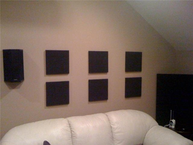 Media Room Acoustic panels
