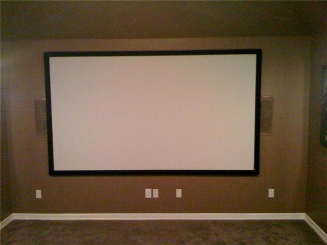 Media Room screen installation