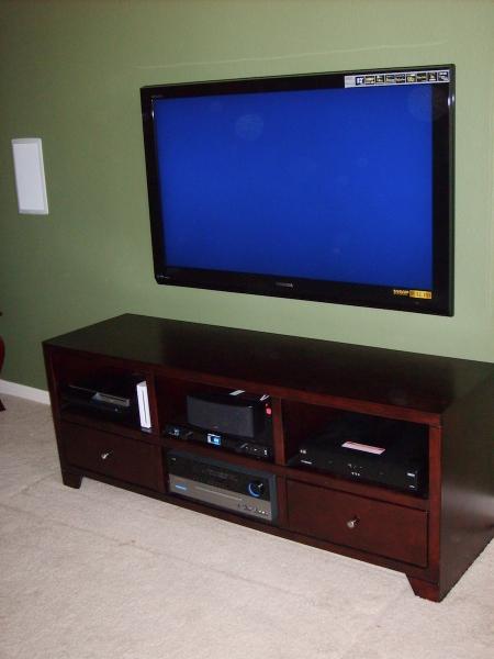 on wall TV installation