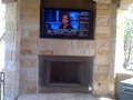 Fireplace TV installation