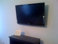 on wall TV installation